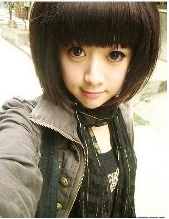 HOT NEW Cute Stylish Short Wigs hair Full Wig Fancy Dress Costume Brazilian fashion(China (Mainland))