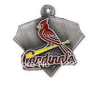 Free shipping 10pcs a lot enamel single-sided  St. Louis Cardinals charm baseball Jewelry