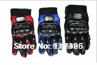 2012 NEW Motorcycle Bike Full finger Protective Gloves Red Size M,L,XL