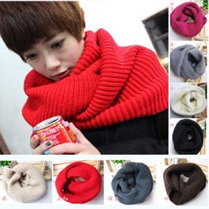 2013 winter warm set of head knitting scarves Woolen yarn women scarf Neck Wrap