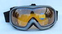 Free Shipping Double Lens Polarized Anti Fog Windproof Ski Goggles UV400 Protection Snow PC Glasses Europe style Dark Grey Men