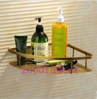 NEW Free Shipping Luxury Antique bronze wall mount bathroom shelves triangle basket Bathroom Storage Holders & Racks Holder