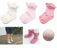 Hot-selling ultra-thin summer children socks padded laciness ballet socks mesh princess socks female child socks