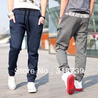 Free shipping, fashion harem pants men's clothing casual trousers