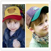 Hot-selling baby bear baseball cap child cap male female child sunbonnet cap