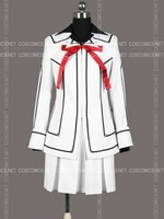 Free shipping Cheap girl White dress Rima cosplay costume from vampire knight Anime Clothing