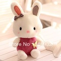Free shipping Bow suit  Rabbit  plush toy , 30cm, 1pc