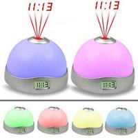 Magic lamp projection lamp romantic projector electronic clock alarm clock colorful projection clock 135g