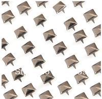 hot slae 200pcs 8mm Silver Pyramid Studs DIY Rivet Spike Nickel Punk Bag Belt Leathercraft Bracelets Clothes free shipping