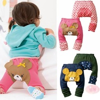 Hot selling  Spring and Autumn Baby Boys&Girls 100% cotton cartoon big PP pants  pants newborn trousers Children Leggings