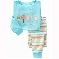 Sweet, 100% Cotton Rib long sleeve T shirt + pant, Baby/Children pajamas/sleepwear/clothing sets for 2-7 year.