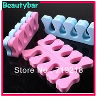 FreeShipping (200pc/lot) Fashionable pink finger Seperator Soft Toe Seperator nail seperator Manicure Pedicure tool Nail Art DIY