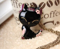 N141 Min.order is $8(mix order)Hot!! New Design Cat medal Necklace fashion vintage Necklace Wholesales Free Shipping!!!