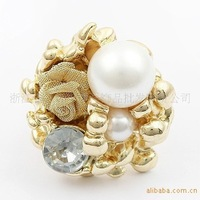 Min.order is $10 (mix order).Costly pearl rose ring personality#e1-2.welcome to buy