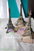 free ship 474pcs Alloy Retro Eiffel Tower keychain creative couple lovers key ring advertising gift keychain can custom logo