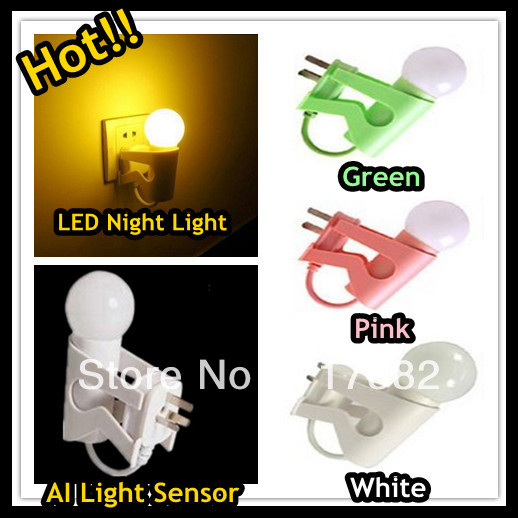 Free shipping decoration creative children mini led night lights with light sensor for baby room / holiday lighting/ kids gift(China (Mainland))