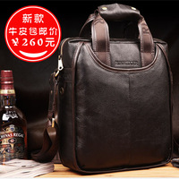 Leather man bag backpack leather bag male shoulder bag briefcase hot-selling bag
