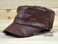 Autumn and winter PU cap military hat elastic adjust female male hat cadet cap casual cap