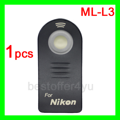 ML-L3 Remote Control For Nikon D7000 D5100 D5000 D3000 D90 D70 D60 D40 Free Shipping + tracking code + Wholesale(China (Mainland))