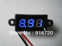 0.28' micro waterproof  DC3.50-30.0V two-wire blue led  digital voltmeter head dislpaly DC3.50-30.0V powered
