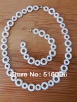 Circle Crochet Necklace Chain circle chain natural colors