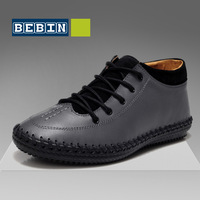 Set the trend of califs lacing shoes men's boots leather boots