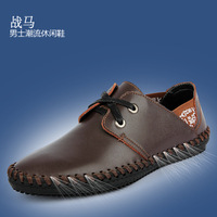 Fashion fashion cowhide shoes gommini loafers the trend of handmade genuine leather man breathable single shoes