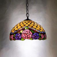 Tiffany pendant light fashion romantic lighting rustic restaurant lamp living room lamps classical rose , h0245