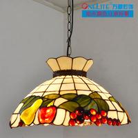 2013 new arrival Rustic fruit tiffany   restaurant lamp dining room pendant light diameter 40 cm   free shipping