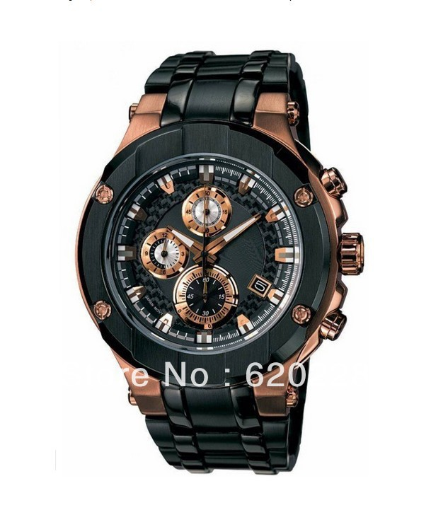 New EFX-500SP-1AV EFX-500SP Men's Gold Lavel Sapphire Chronograph Sport 500SP Watch free shipping(China (Mainland))