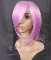 Cosplay wig pinkish purple msn high temperature wire cos wig ascendent