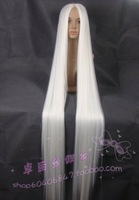 Cosplay wig fringe 150cm white high temperature wire wig scalp