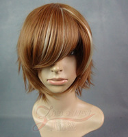 Cosplay wig roll brown gradient cos wig