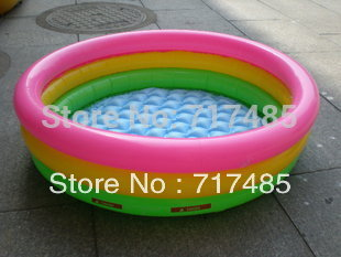 Trinuclear intex-58924 neon inflatable swimming pool transparent swimming pool 86*25cm(China (Mainland))
