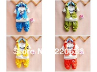 retail new 2013 autumn -summer clothing set,baby boy children/kids clothes,cartoon sport suit,short sleeve T-shirt+pants