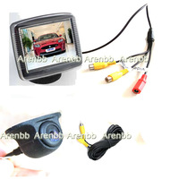 3.5INCH lcd car rearview monitor+night vision samll UFOccd hd back up car camera car system Parking Assistance AR-480