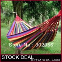 24pcs/lot Leisure Fabric Stripes tourism camping hunting Single hammock BO01