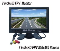 7 inch LCD TFT FPV Monitor Photography HD 800x480 Screen for Ground Station