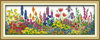 free shipping,unfinished cross stitch sets, Printed cloth,Flowers Series, Beauties of springtime H247