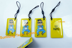 5x NFC Hang Tag Mifare 1k for Android Sony HTC Samsung LG Nexus Galaxy Nokia OPPO Asus Acer 13.56MHz RFID Smart IC Keyfob Key(China (Mainland))