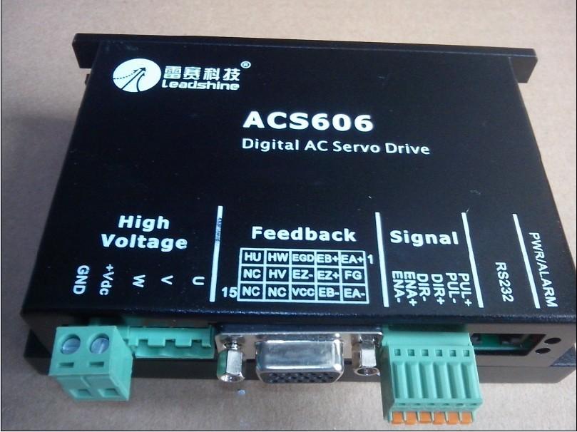 CNC system Leadshine AC servo drives ACS606 200W AC Servo motor ACM602V36 Brushless AC Servo Motor