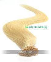 "18"" 20"" 22"" blonde brazilian hair keratin i stick virgin remy hair I stick  human hair extensions 100s/pack  free shipping"
