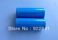 2 pcs/lot 4000mAh 26650 3.7v Rechargeable Li-ON battery T6 flashlight battery For Flashlight Torch Free shipping