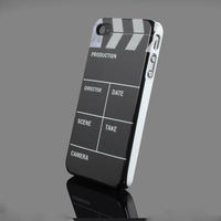 New Fashion Clapper Board Slate Movie Cut Hard Back Case Cover Skin Protector For Apple iphone 4S 4 4G. Free & Drop Shipping