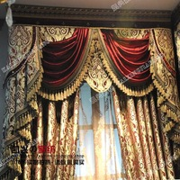 Fashion luxury quality jacquard curtain cloth curtain