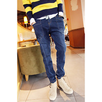 Hot-selling 2012 men's clothing male denim drawstring round the waist three-dimensional pocket harem pants skinny pants