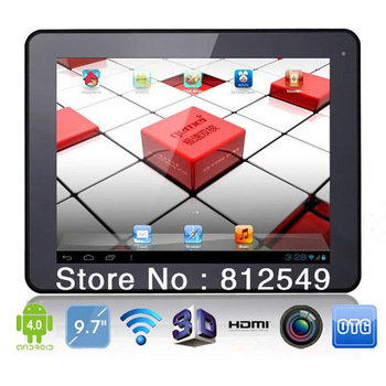 9.7 inch Tablet PC Android 4.0 Amlogic 8726-MX Dual Core 1.5GHz 16GB,!G DDR,3G,HDMI,