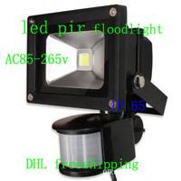 DHL free shipping pir 10w/20w/30wfloodlight ip65 AC85-265V   PIR Motion Sensor  led street light   waterproof light