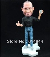 Free shipping-18cm Apples store CEO Steve Jobs figure resin crafts material doll Artificial Sculpture Souvenir