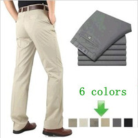Free shipping 2013 new men's business casual pants, cotton casual trousers, middle-aged casual pants, large size men's pants 152